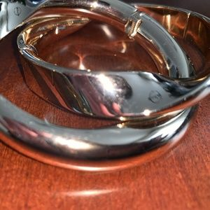 CHICO'S THICK GOLD MAGNETIC BANGLES